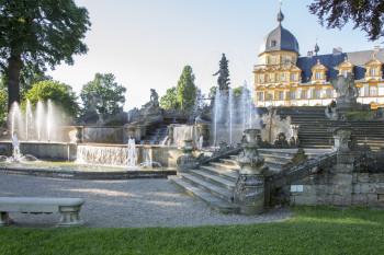 Schloss Seehof mit Wasserspielen, Memmelsdorf bei Bamberg.