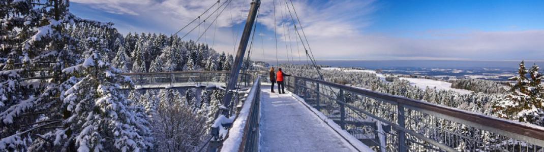 Auch im Winter jederzeit begehbar ist der Skywalk Allgäu.