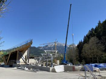 Die Bauarbeiten für die neue Hexenwasser-Gondel laufen auf Hochtouren.