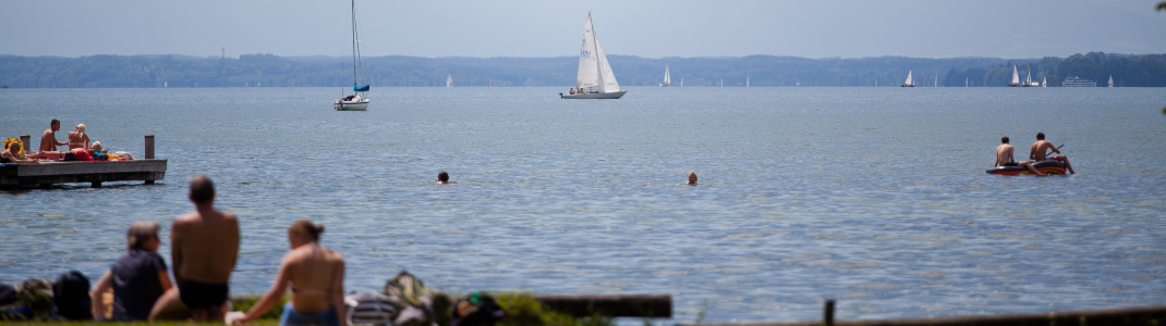 Badevergnügen am Starnberger See.