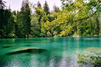 Der Crestasee ist glasklar und hat Trinkwasserqualität.