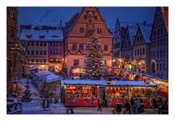 Die fränkische Kleinstadt Rothenburg ob der Tauber ist in der Adventszeit immer einen Besuch wert.