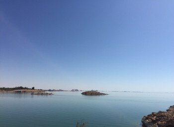 Der Nassersee von Abu Simbel aus
