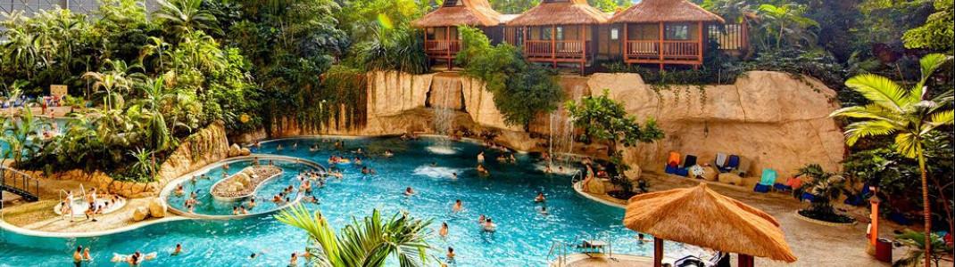 Erlebnisreiche Dschungellandschaft im Tropical Islands.