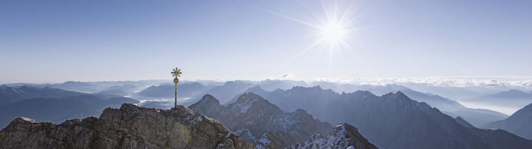Wer vom Gipfel der Zugspitze aus ins Eheglück startet, der ist dem Himmel ganz nah.