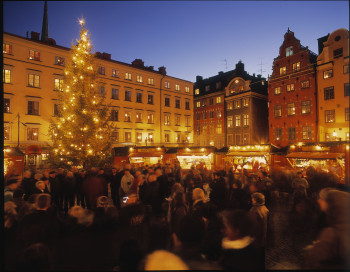 Der Weihnachtsmarkt in der Gamla Stan wird in Stockholm Julmarknad genannt.