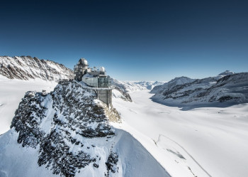 Das Jungfraujoch im Berner Oberland.