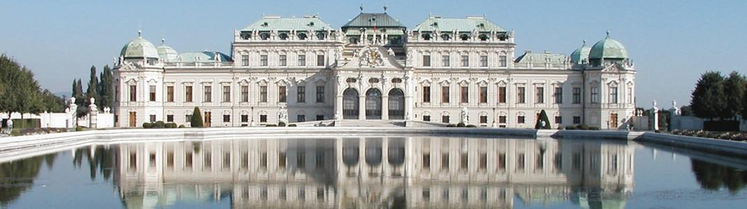 Oberes Belvedere, Blick auf die Südseite