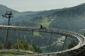 """Die Alpen-Achterbahn """"NockyFlitzer"""" auf der Turracher Höhe bietet viel Nervenkitzel."""