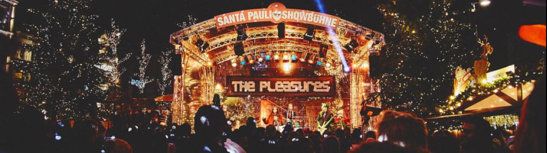 """""""Heiße"""" Beats auf der Showbühne am Santa Pauli Weinachtsmarkt"""