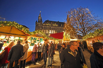 Katschhof is the heart of Aachen's Christmas market.