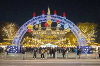 Christmas Market in Vienna is situated on Rathausplatz.