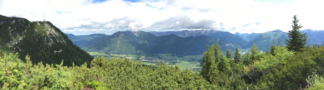 Aussicht vom Feuerkogel bei Bad Ischl.