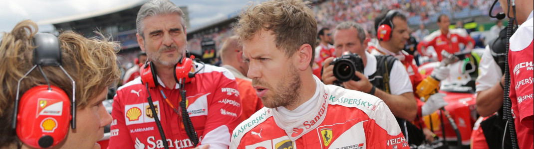 One of this season's hot favorites: Ferrari Driver Sebastian Vettel.