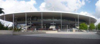 Aussenansicht auf das Stade-de-France in Saint-Denis nördlich von Paris