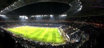 Das Stade Lumières am 28. Februar 2016 beim Spiel zwischen Olympique Lyon und Paris St. Germain