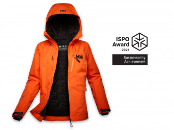 The Odin Infinity Insulated Jacket by Helly Hansen was additionally awarded the Sustainability Achievement.