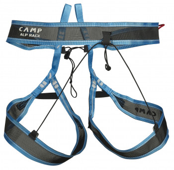 The Alp Race climbing harness from C.A.M.P. packs down to the size of a wallet.