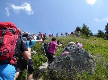 Mehrere Gipfel werden während der Tour erklommen.