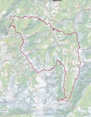 Die Route 2019: Start- und Zielpunkt ist das Dorfzentrum in Auffach.