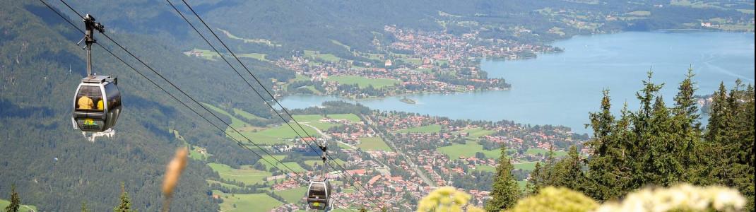 Gondelfahrt mit Blick auf den Tegernsee: Auch die Wallbergbahn macht am 21. Mai beim Aktionstag mit.
