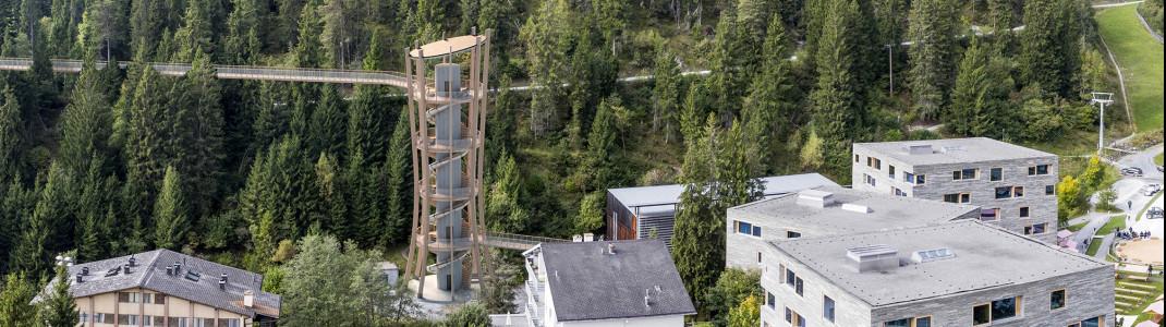 Der Baumwipfelpfad Laax soll im Sommer 2021 eröffnet werden.