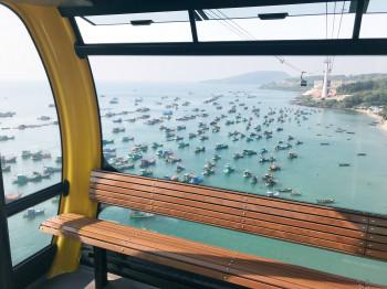 Diese spektakuläre Aussicht erwartet Urlauber in der neuen 3S-Bahn Hòn Thơm in Vietnam.