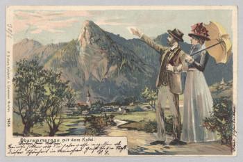 Die Berge des Voralpenlandes waren bereits im 19. Jahrhundert auf Postkarten zu finden.