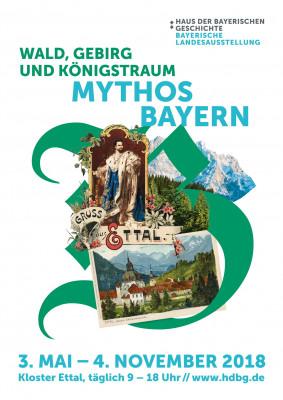 Das Plakat der Bayerischen Landesausstellung 2018 in Kloster Ettal.