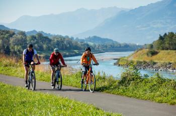 Radfahren im Liechtensteiner Unterland