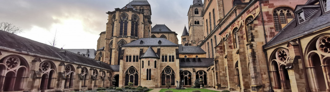 Trier Cathedral is connected to the neighboring Church of Our Lady via a cloister.