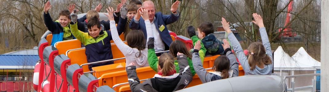 Der neue BRIO Wellenreiter im Ravensburger Spieleland begeistert große und kleine Besucher.