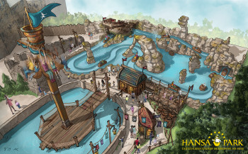 In Awildas Welt im Hansa-Park wartet eine neue Wasserbahn und ein neuer Freifallturm.