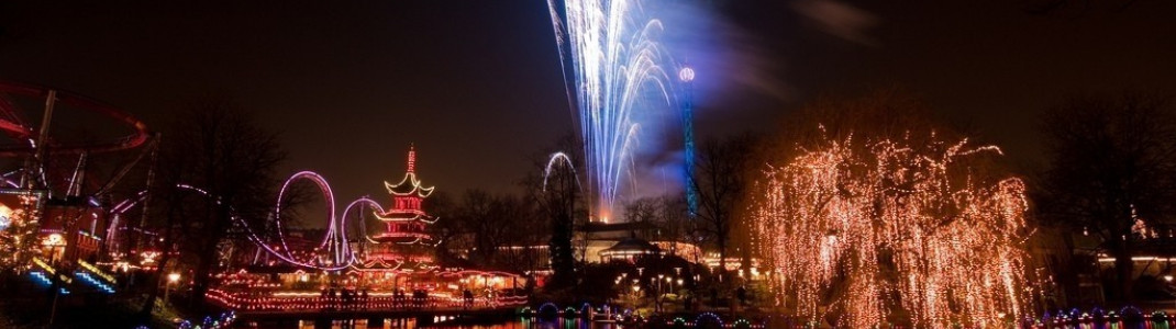 Firework festival in the Tivoli amusement park