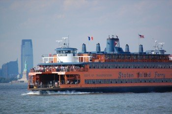 Across Hudson River with the Staten Island Ferry