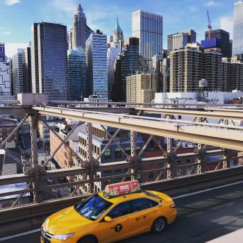 Sich in New York ein typisches gelbes Taxi rufen - Pflichtübung!