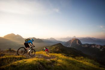 Traumhafte Kulisse beim Mountainbiken auf dem Nassfeld.