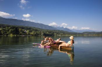 Badewannen-Temperaturen von bis zu 28 Grad erreicht der Pressegger See im Sommer.
