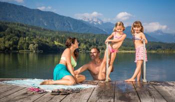 Badespaß für die ganze Familie bieten die fünf Strandbäder am Pressegger See.