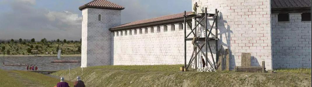 Virtuelle Rekonstruktion des Kastells Boiotro - des heutigen Passaus - zur Römerzeit: Visualisierungen wie hier in einem Film im Passauer Römermuseum zeigen besonders eindrucksvoll, wie die Römer über Jahrhunderte das Leben im heutigen Ostbayern und Oberösterreich geprägt haben.