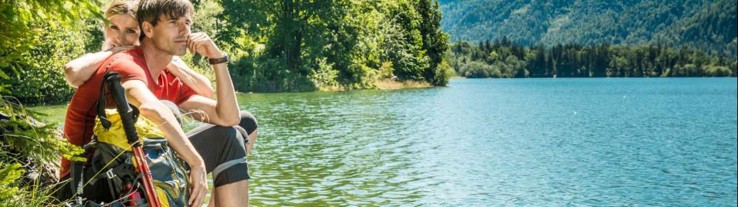 Der Hintersee ist das Idealbild eines romantischen Bergsees.