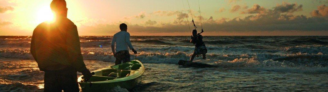 Von Kiten bis Kajak - auf Baltrum gibt es viele Möglichkeiten, um aktiv zu werden.