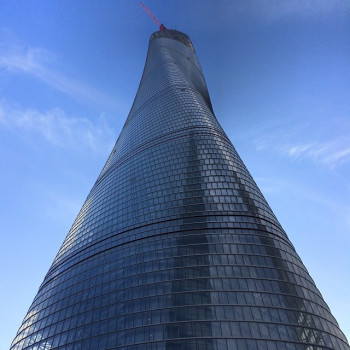 The spiralling facade of Shanghai Tower symbolises the emergence of modern China.