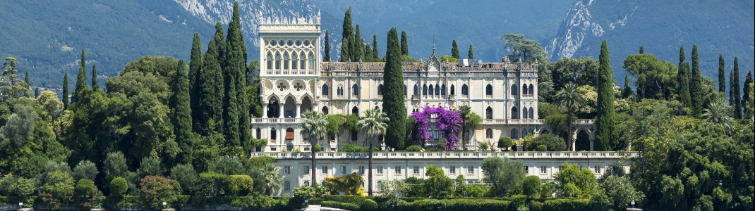 The Cavazza family's villa lies quaintly inside the park among its beautiful gardens.