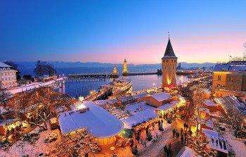Eine traumhafte Kulisse bietet die Lindauer Hafenweihnacht.