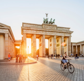 Brandenburg Gate at Pariser Platz is arguably Berlin's most important landmark.