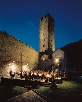Castelgrande bietet die perfekte Atmosphäre für allerlei Veranstaltungen.