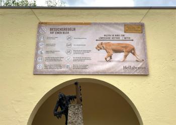 Beim Zoobesuch müssen noch Hygieneregeln eingehalten werden.