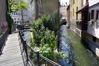 Das Wassersystem zieht sich durch die gesamte Augsburger Altstadt.