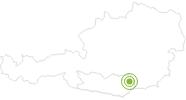 Radtour Saualm-Schutzhütten-Tour im Lavanttal: Position auf der Karte